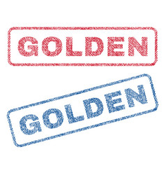 Golden textile stamps vector