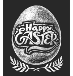 Happy Easter Chalk Lettering vector image