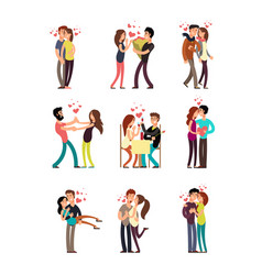 Happy family couples in love wedding people vector