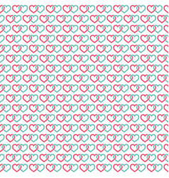 hearts linked background seamless vector image