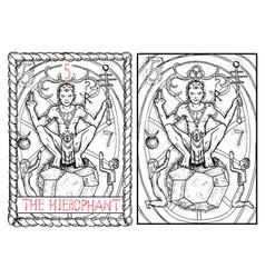 hierophant vector image