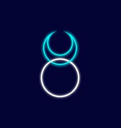 Horned god wiccan neon sign god nature logo vector