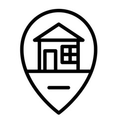 House location icon outline style vector