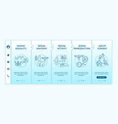 Human sexuality onboarding template vector