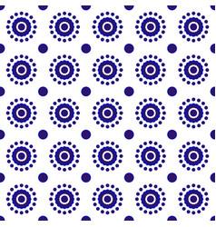 indigo blue pattern vector image