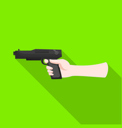 Isolated object hand and gun icon collection vector