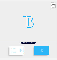 Letter tb bt t b logo design simple vector