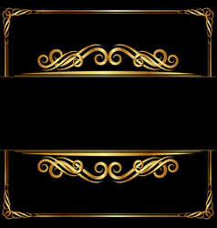 luxury background with golden ornaments vector image