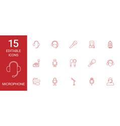 microphone icons vector image