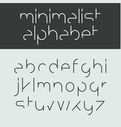 minimalist alphabet lowercase letters vector image