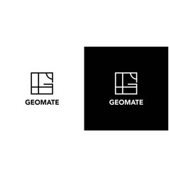 modern and professional geographic theme logo vector image