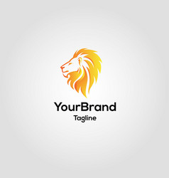 Modern lion logo template vector