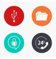 Modern technology colorful icons set vector