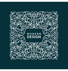Monogram Design Element vector image
