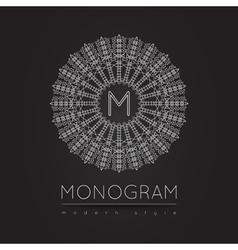 MONOGRAM icon vector image