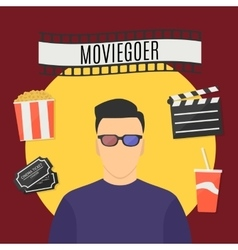 Moviegoer vector
