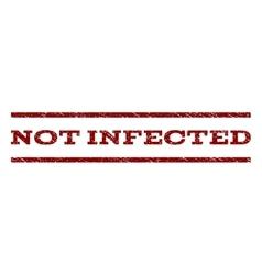 Not Infected Watermark Stamp vector