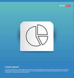 pie chart - blue sticker button vector image