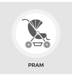 Pram flat icon vector