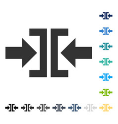 press horizontal direction icon vector image