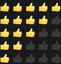 Rating thumbs up panel Customer review vote vector image