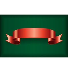 Red ribbon green vector