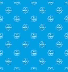 repair pattern seamless blue vector image