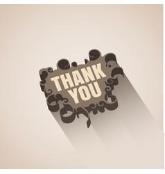 Retro design speech bubble thank you vector
