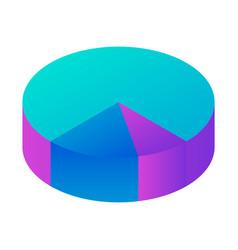 round diagram icon isometric style vector image