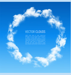 Round frame made of clouds vector