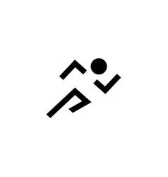 Run man running line art icon vector