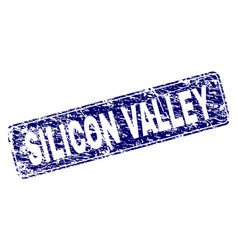 Scratched silicon valley framed rounded rectangle vector