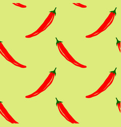Seamless pattern with chili peppers vector