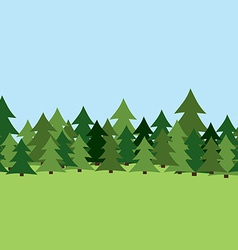 Seamless pine forest summer vector