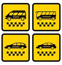 set four taxi icons vector image