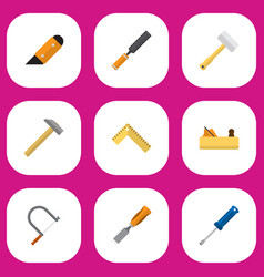 set of 9 editable equipment icons includes vector image
