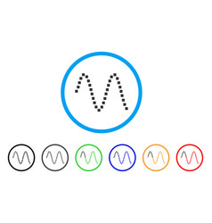 Sinusoid rounded icon vector