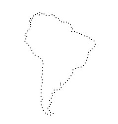 South america abstract schematic map from the vector
