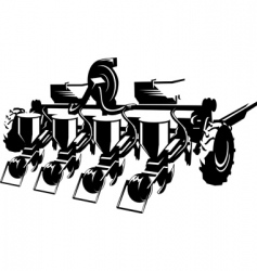 Sowing machine vector