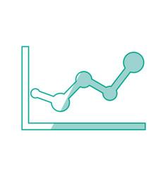 Statistics diagram pictogram vector