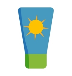 Sunscreen cream icon vector image