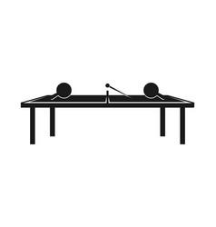 table tennis sport logo design inspiration vector image