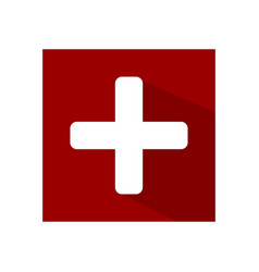 The flag of switzerland vector