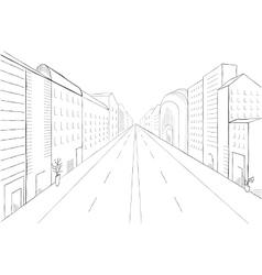 Urban monochrome landscape vector