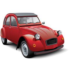 Vintage economy car vector