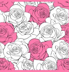 vintage seamless pattern white pastel vector image