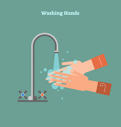 washing hands healthy vector image