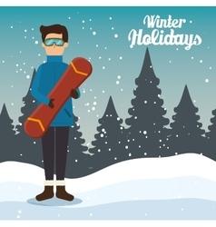 Winter holidays season icon vector