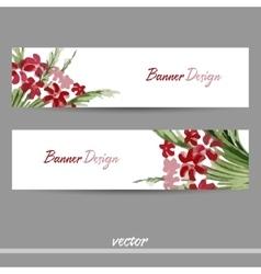 BannerRedFlower vector image
