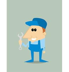 Cartoon mechanic vector image